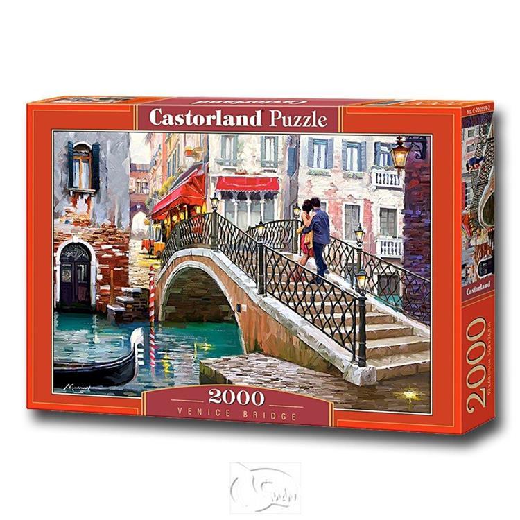 【波蘭Castorland拼圖】威尼斯橋的浪漫-油畫-2000片 Venice Bridge