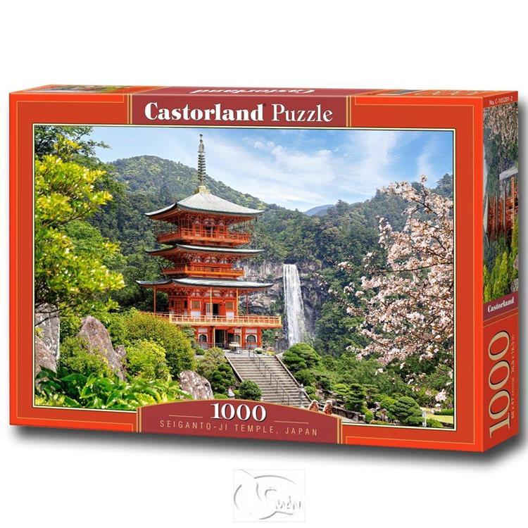 【波蘭Castorland拼圖】那智山青岸渡寺-1000片 Seiganto-ji-Temple
