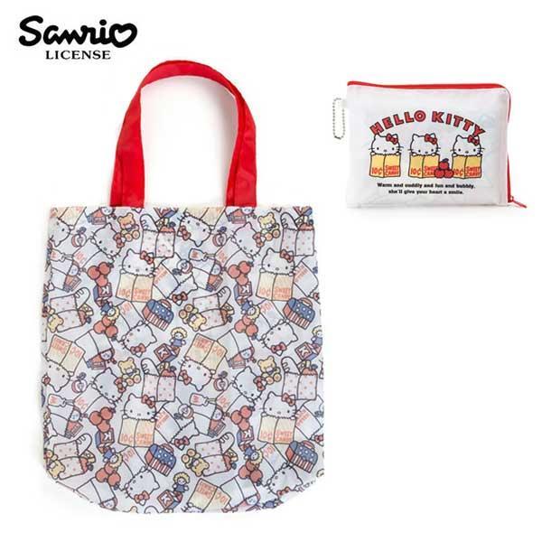 凱蒂貓 摺疊 購物袋 環保袋 手提袋 防潑水 Hello Kitty 三麗鷗 Sanrio
