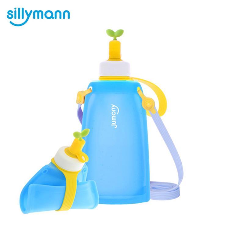 【韓國sillymann】 100%兒童便攜捲式鉑金矽膠水瓶-300ml