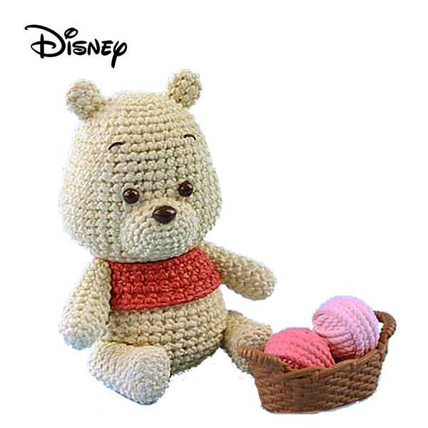 Amicot 小熊維尼 編織公仔 Winnie 公仔 模型 迪士尼 Banpresto 萬普