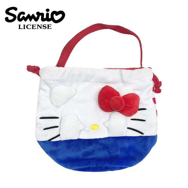 凱蒂貓 束口 手提袋 便當袋 Hello Kitty 三麗鷗 Sanrio