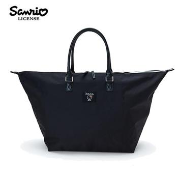凱蒂貓 尼龍 大提袋 行李袋 旅行袋 肩背袋 超大容量 防潑水 Hello Kitty 三麗鷗