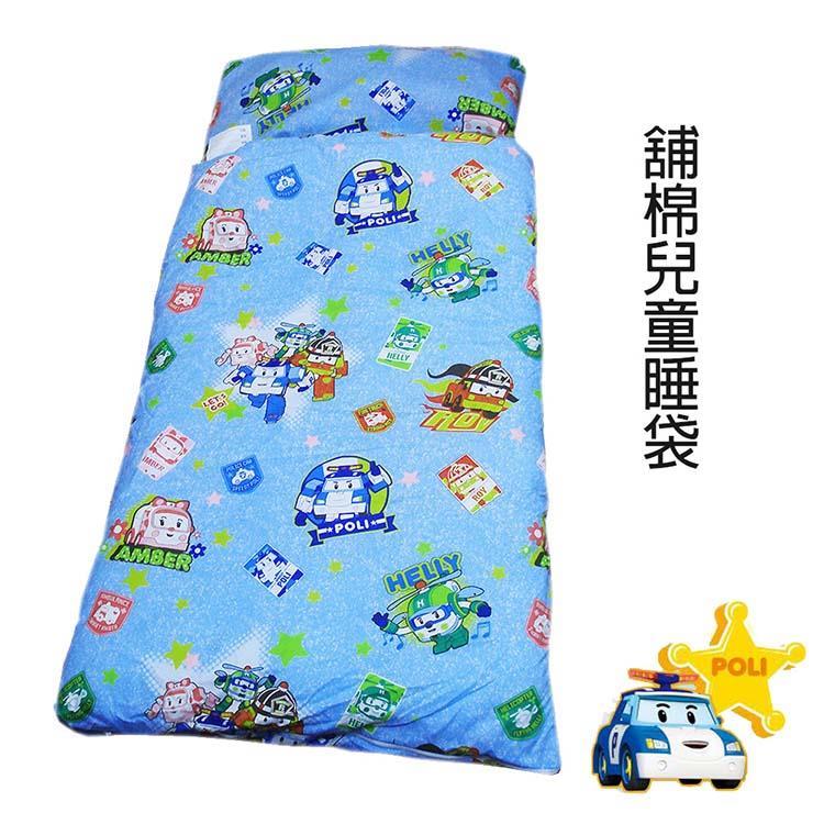 【波力】POLI救援小英雄舖棉冬夏二用兒童睡袋