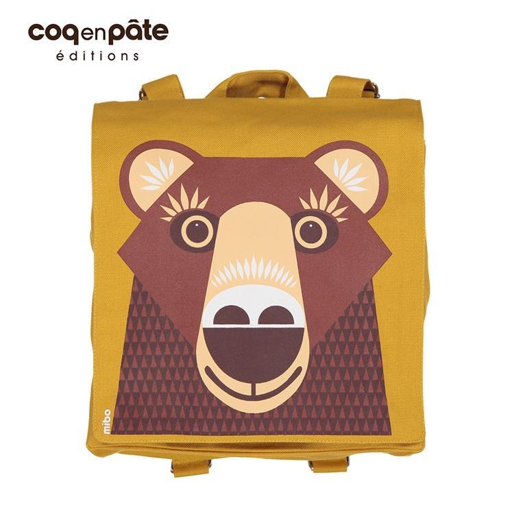 【虎兒寶】COQENPATE 法國有機棉無毒環保布包 - 小童寶包幫- 熊