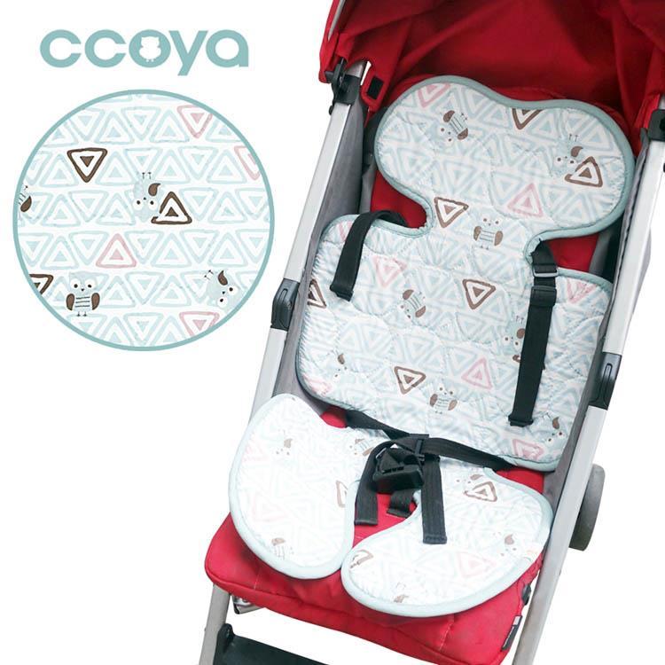 【虎兒寶】Ccoya 韓國製寶寶推車四季通用3D坐墊-幾何貓頭鷹