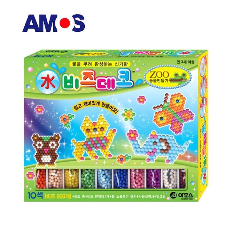 【虎兒寶】韓國 AMOS 益智水拼珠 - 動物主題
