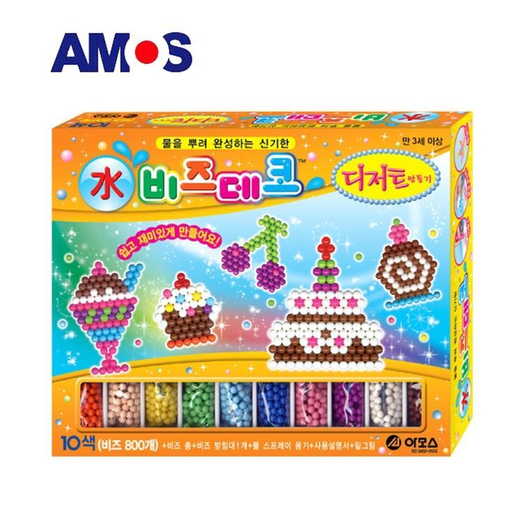 【虎兒寶】韓國 AMOS 益智水拼珠 - 甜點款
