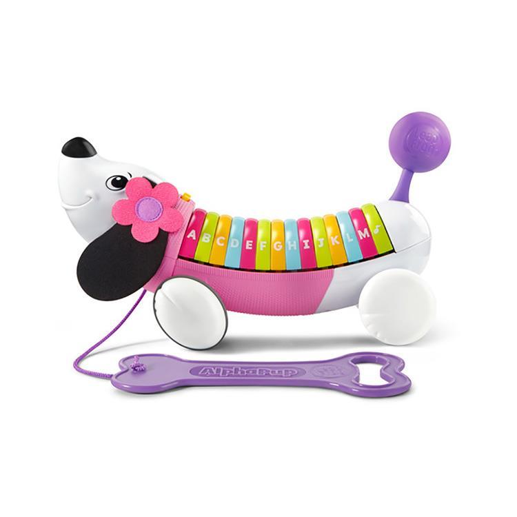 《 LeapFrog跳跳蛙 》彩虹字母小狗 (粉紫)