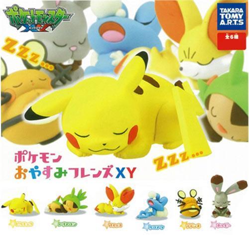全套6款 皮卡丘 神奇寶貝XY 睡夢篇 第一彈 P1 扭蛋 寶可夢 TAKARA TOMY