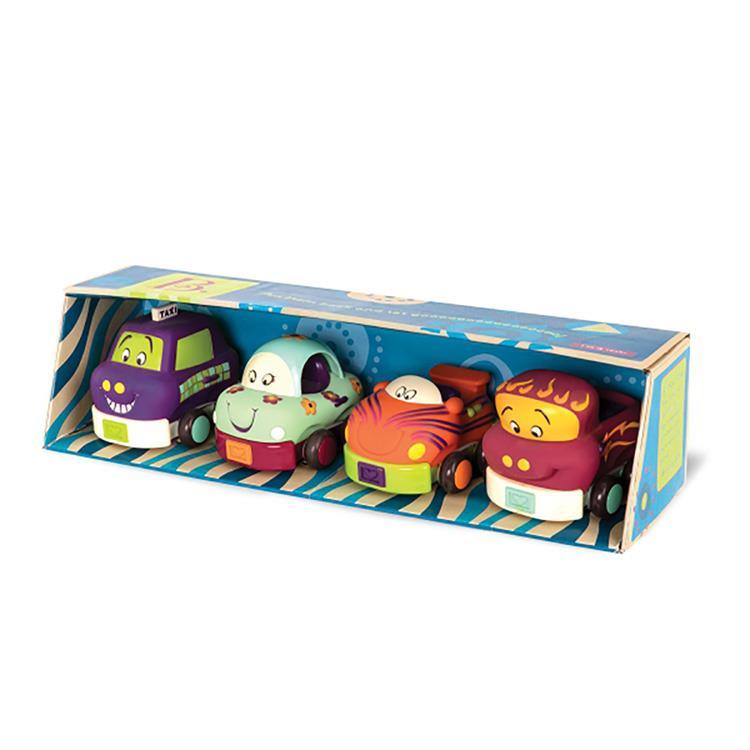 《 美國 B.toys 感統玩具 》寶寶迴力車 (芽綠)