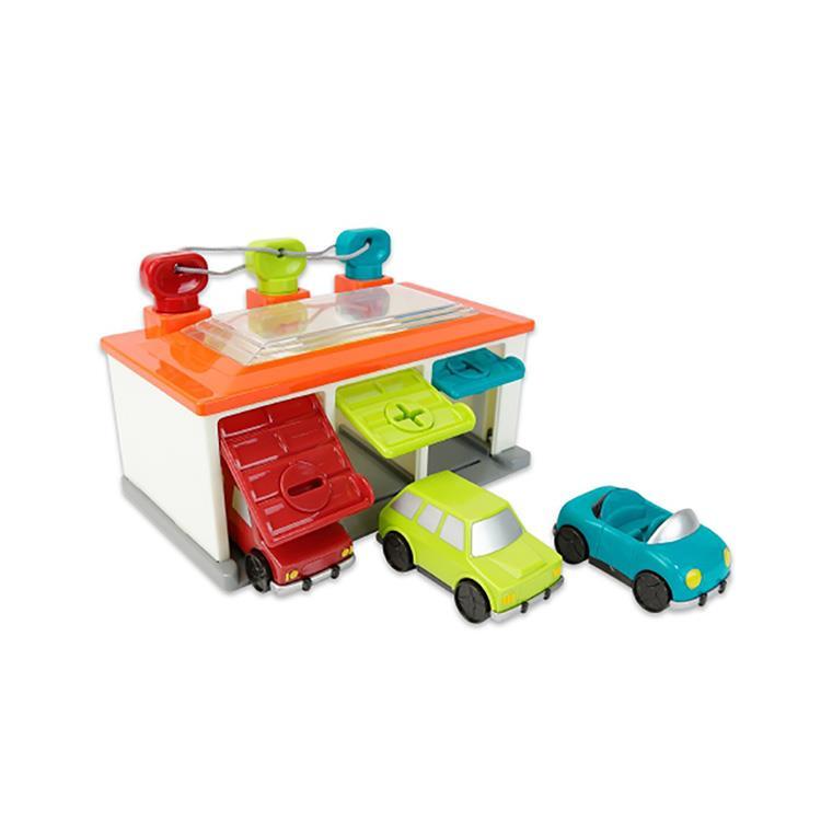 《 美國 B.toys 感統玩具 》藍綠紅車庫