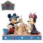 Enesco 米奇 米妮 堆沙雕 塑像 公仔 精品雕塑 Mickey Minnie 迪士尼