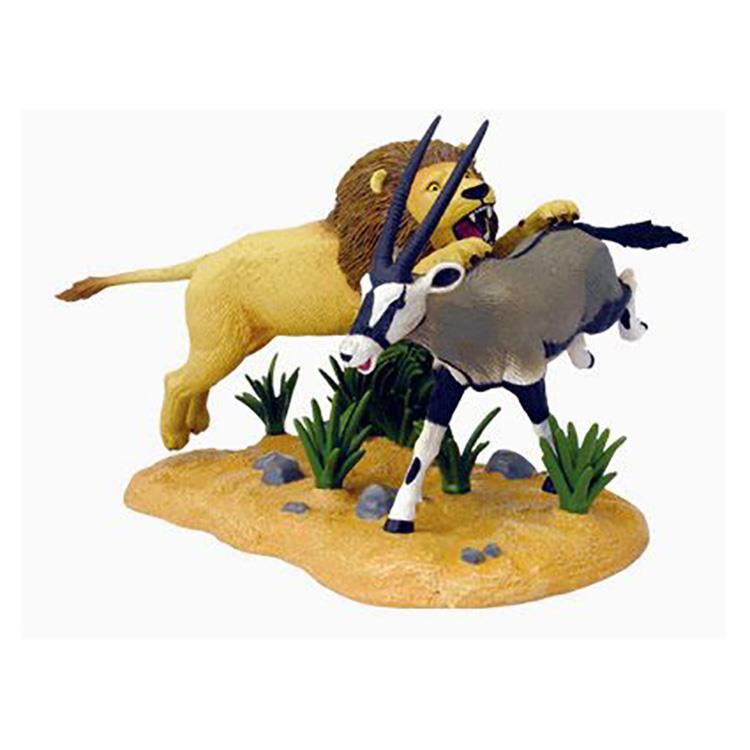 《4D MASTER 》動物模型系列 - 獅子&羚羊