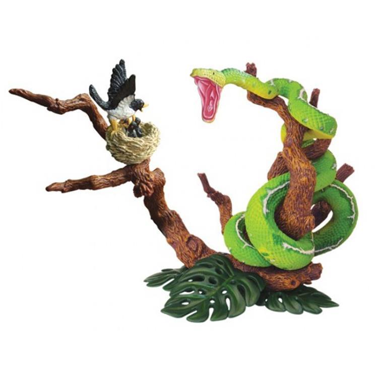 《4D MASTER 》動物模型系列 - 綠樹蟒 蟒蛇獵鳥