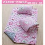 【17mall】甜美瑪莉貓三件式兒童睡墊組(睡墊+枕頭+四季被)