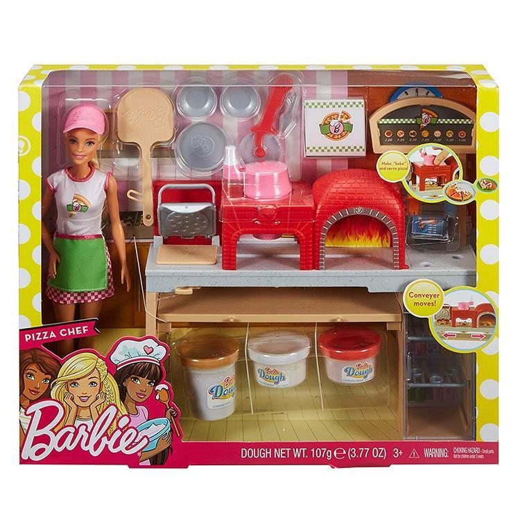 《 MATTEL - Barbie 》芭比比薩廚師遊戲組