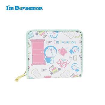 哆啦A夢 皮革 短夾 皮夾 錢包 小叮噹 DORAEMON 三麗鷗 Sanrio
