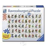 【德國Ravensburger拼圖】鳥類郵票圖鑑-大拼片拼圖-300L片 50 Bird Stamp