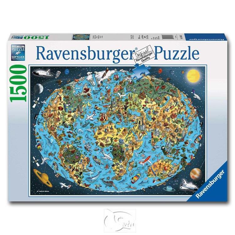 【德國Ravensburger拼圖】插畫卡通地球-1500片 Cartoon Earth