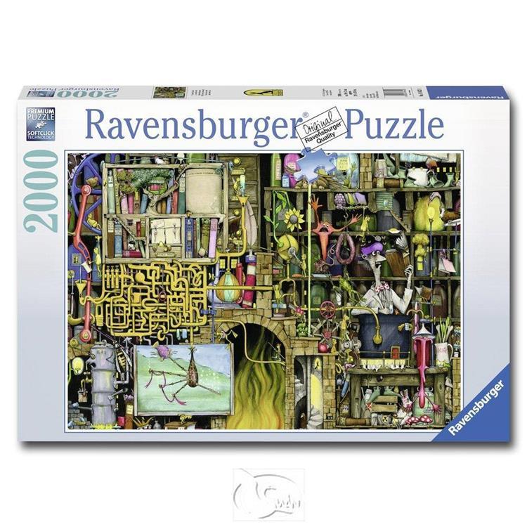 【德國Ravensburger拼圖】科林湯普森:瘋狂實驗室-2000片