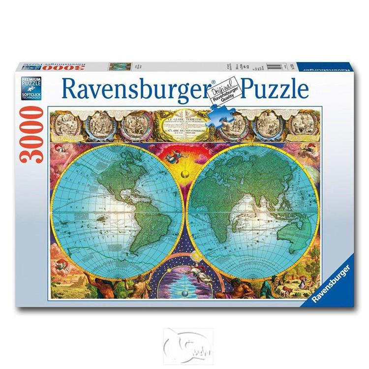 【德國Ravensburger拼圖】古地圖-3000片 Antique Map