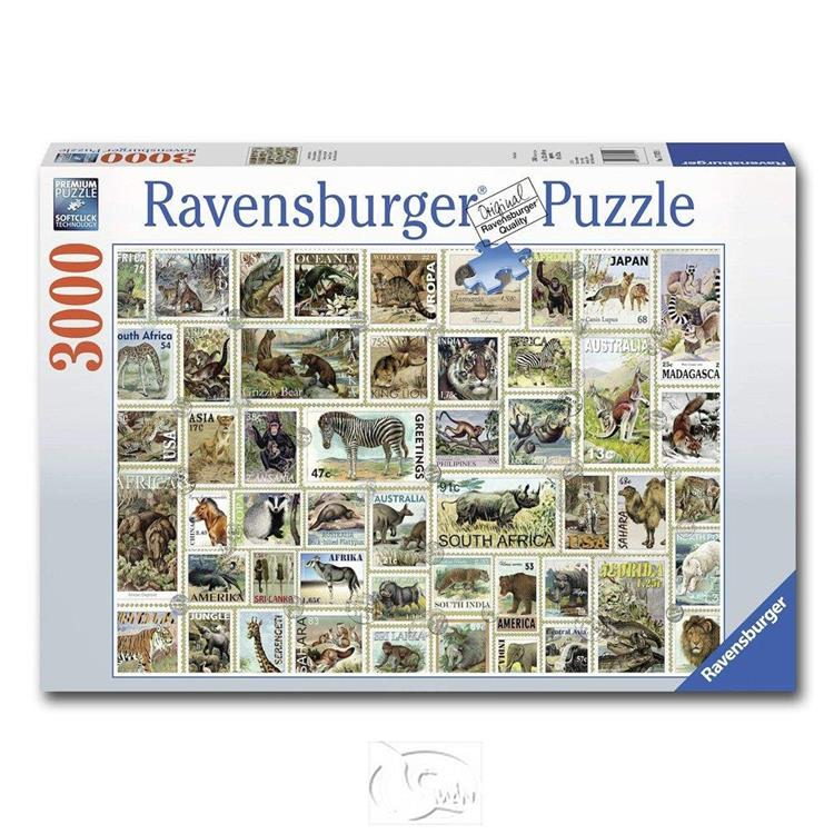 【德國Ravensburger拼圖】動物郵票集錦-3000片 Animal Stamps