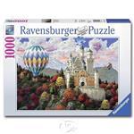【德國Ravensburger拼圖】熱氣球新天鵝堡之夢-1000片