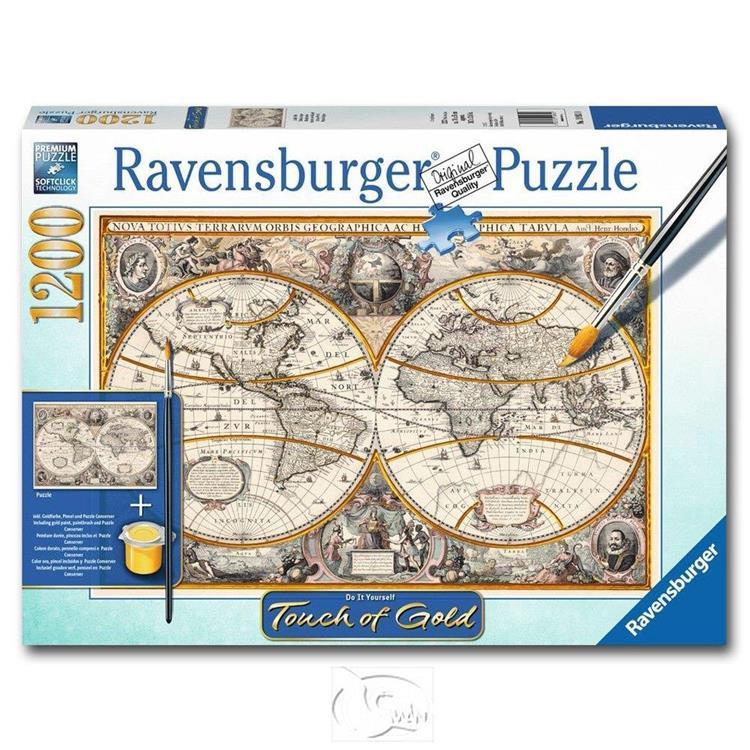 【德國Ravensburger拼圖】手繪金漆-古老世界-1200片 Antique World