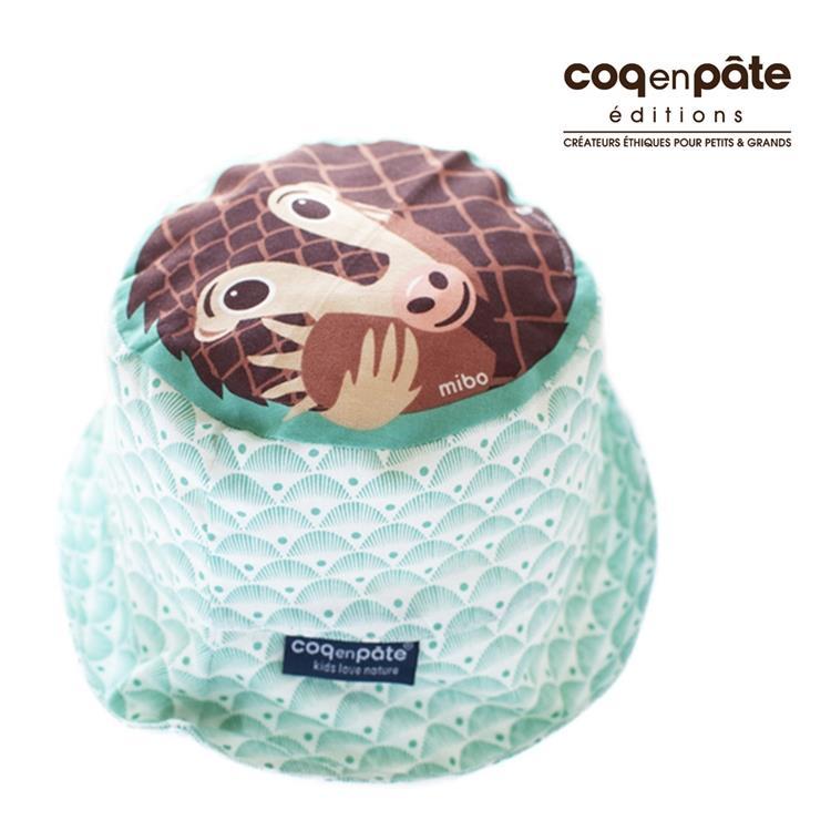 【虎兒寶】COQENPATE 法國有機棉無毒環保系列- 夏日遮陽帽 - 穿山甲