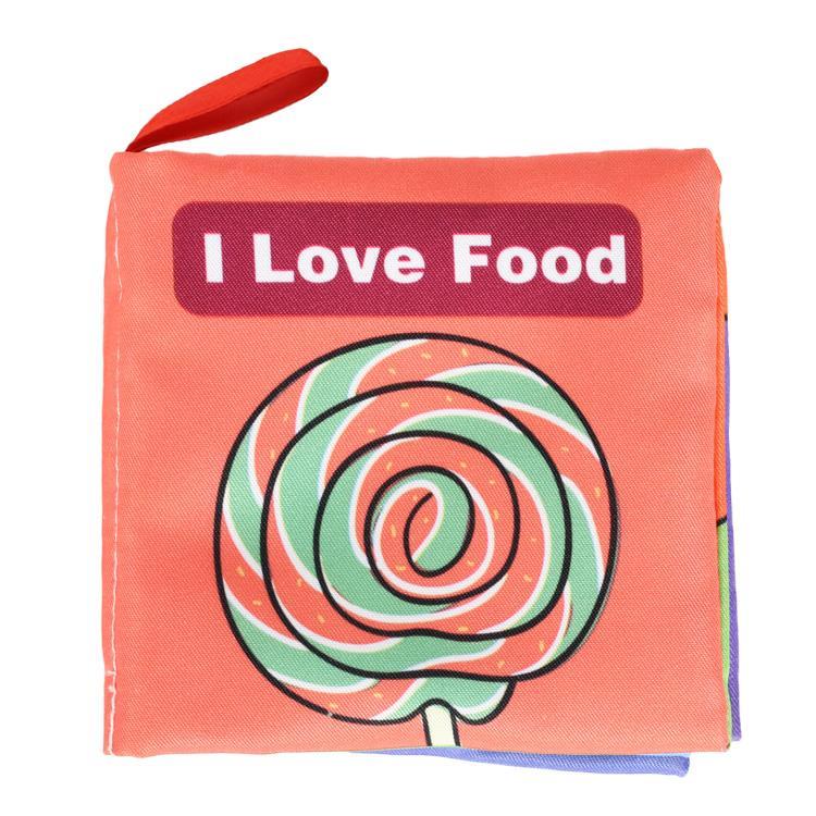 l Love Food-寶寶認知學習英文布書