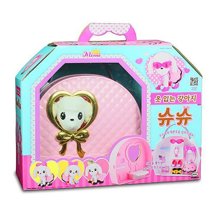 《 MIMI World 》可愛粉紅提包狗