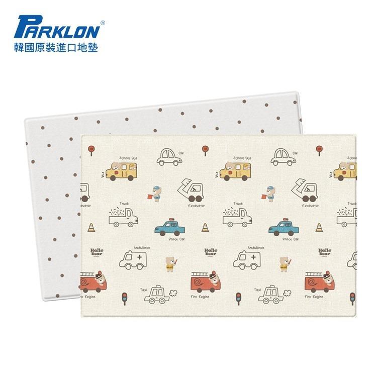 【虎兒寶】PARKLON 韓國帕龍-雙面加厚1.2CMpuresoft 爬行地墊-【汽車總動員】