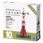 《 Nano Block 迷你積木 》NBH-001R 東京鐵塔 十週年版本(透明Ver.)