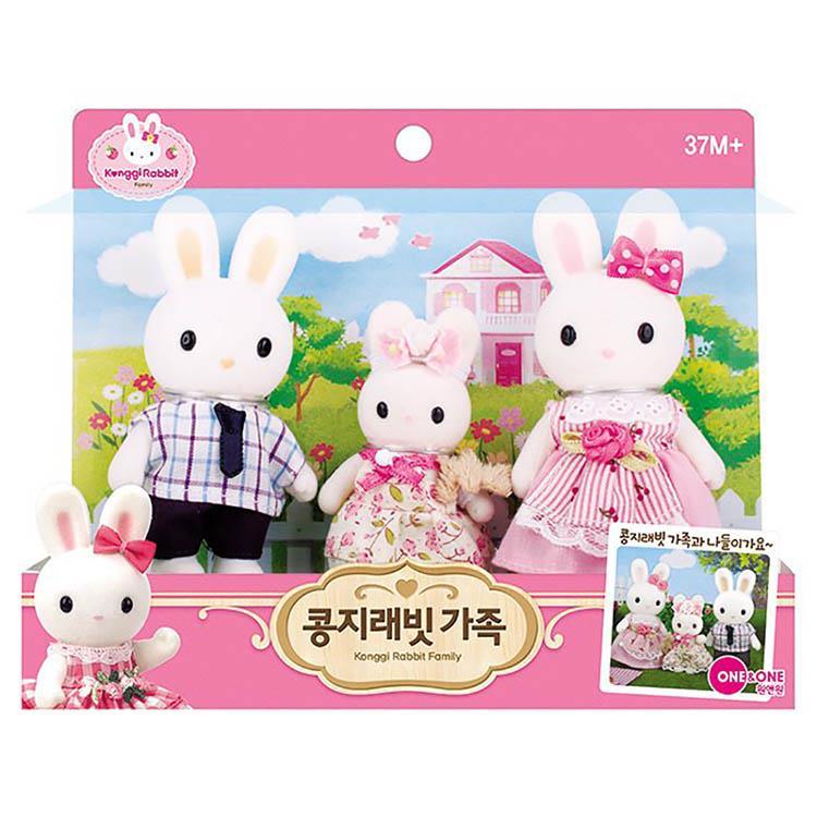 Konggi Rabbit 兔寶家族 - 家庭公仔組
