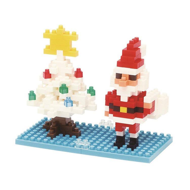《 Nano Block 迷你積木 》NBC-099 聖誕老人與雪花聖誕樹
