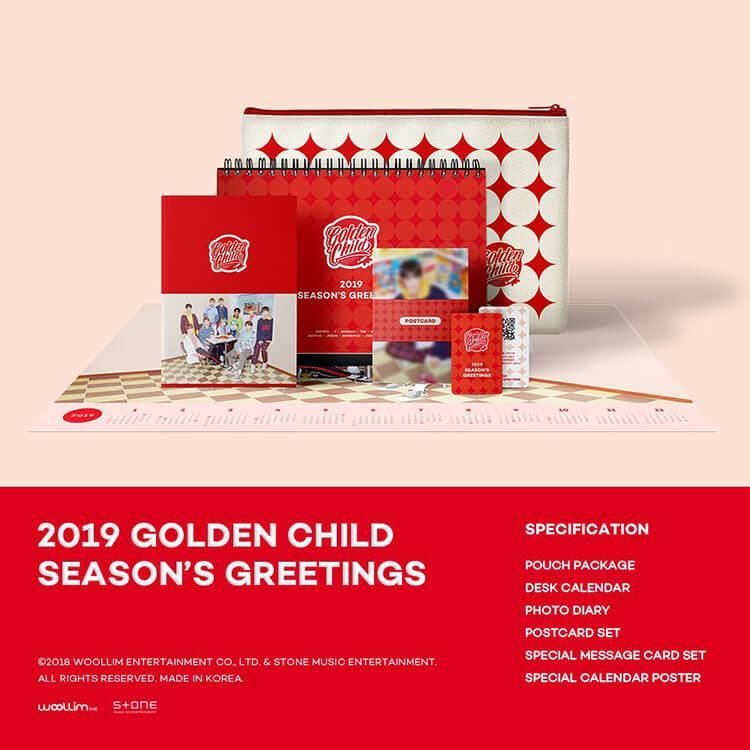 GOLDEN CHILD  2019 SEASON'S GREETINGS 年曆組合