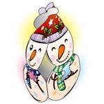 可愛聖誕吊飾-小雪人
