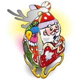 可愛聖誕吊飾-小雪橇