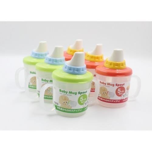 【大國屋】日本製INOMATA BABY MUG系列幼兒雙耳鴨嘴學習水杯(230ML)-綠色
