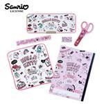 凱蒂貓 豪華文具組 鉛筆盒 剪刀 筆記本 2B鉛筆 Hello Kitty 三麗鷗 Sanrio