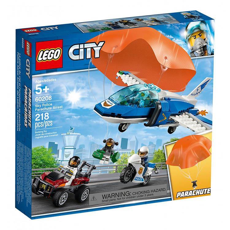 樂高積木 LEGO《 LT 60208 》City 城市系列 - 航警降落傘追捕