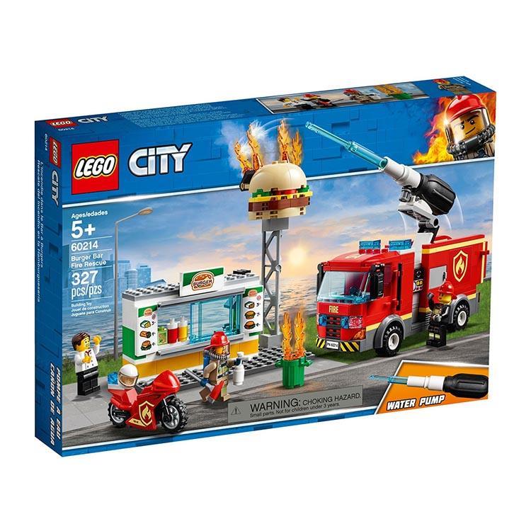 樂高積木 LEGO《 LT 60214 》City 城市系列 - 漢堡餐廳火災救援