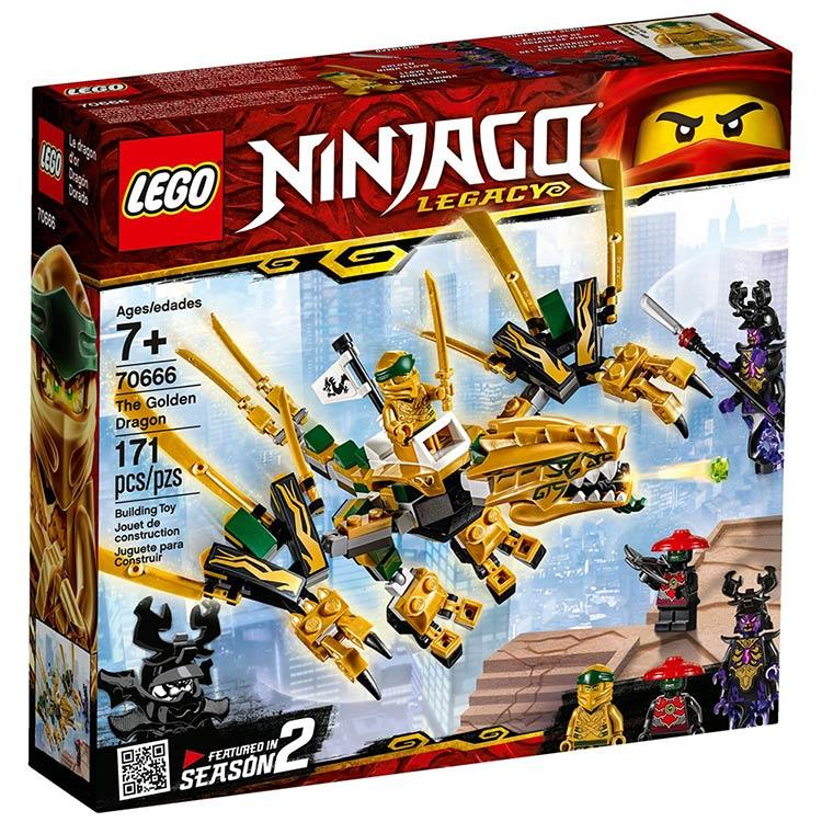 樂高積木 LEGO《 LT 70666 》 NINJAGO 旋風忍者系列 - 黃金龍