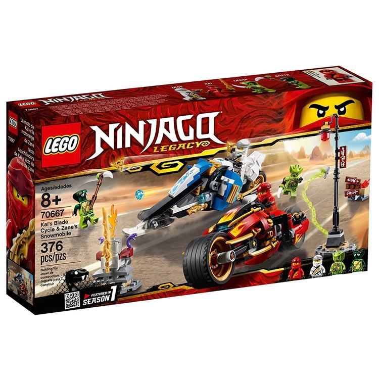 樂高積木 LEGO《 LT 70667 》 NINJAGO 旋風忍者系列 - 赤地的刀鋒轉輪車及冰忍的