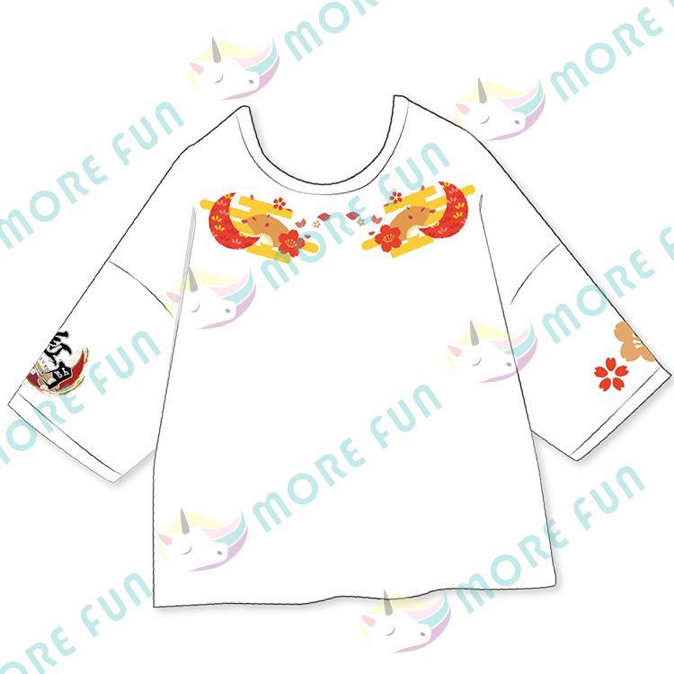 偶像夢幻祭-團體落肩T-shirt-紅月