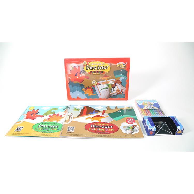 韓國 VUIDEA AR兒童英語教學繪本/恐龍樂園/恐龍組合
