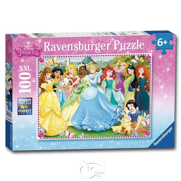 【德國Ravensburger拼圖】迪士尼歷代公主-大拼片拼圖-100XXL片