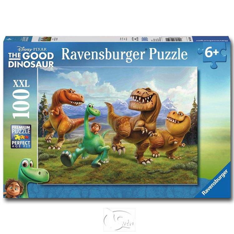【德國Ravensburger拼圖】迪士尼:恐龍當家-大拼片拼圖-100XXL片