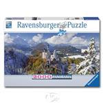 【德國Ravensburger拼圖】新天鵝堡雪景-全景拼圖-2000片 Neuschwanstein